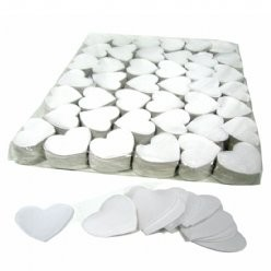 Fxshop, Slowfall confetti big size hartjes wit, Slowfall confetti big size hearts white