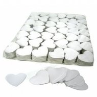Fxshop, Slowfall confetti big size hartjes wit, Slowfall confetti big size hearts white