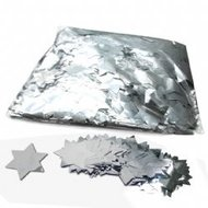 fxshop, confetti metallic sterretjes zilver, confetti metallic stars silver